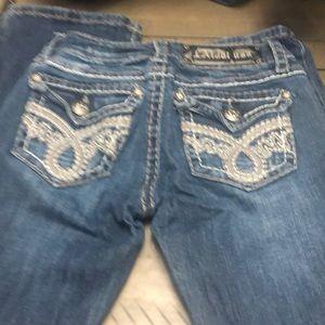 L.A idol jeans size 0 26 waist 33 length